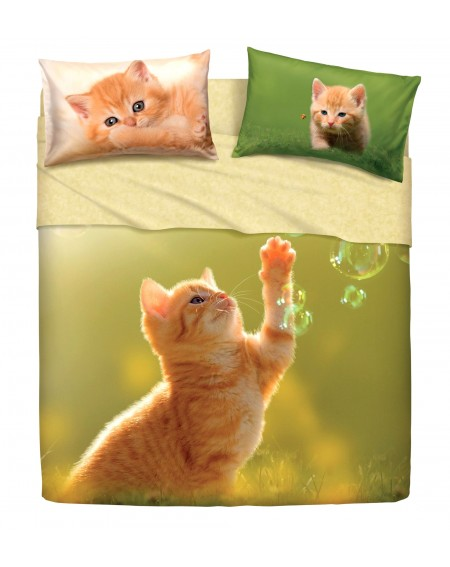 SHEET SET Play Cats BY BASSETTI DOUBLE SIZE