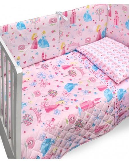 Bettüberwürfe gesteppte - Kinder Steppdecke und Nestchen für Kinderbett PETIT PRINCESS