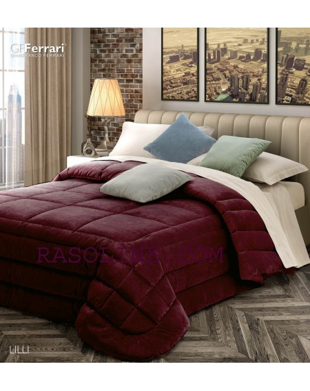 Winter Quilt Velvet Lilli Bordeaux