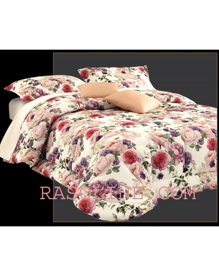 Winter Quilt Velvet Digital Flower Print 265x265cm King or Super king Bed Comforter