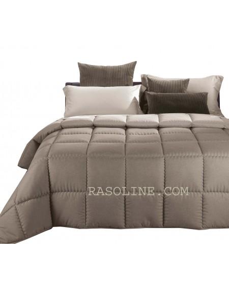 Winter Quilt Comforter Modern Double face Beige Caleffi