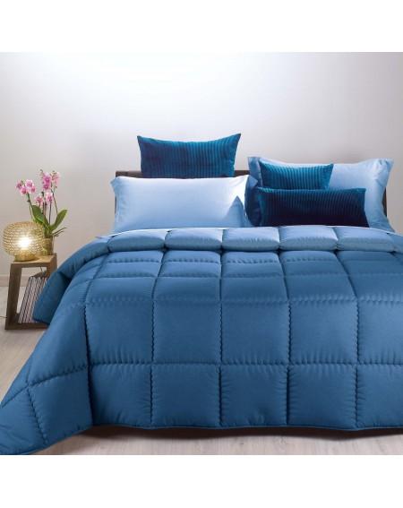 Winter Quilt Comforter Modern Double face Blue Caleffi 170x260cm