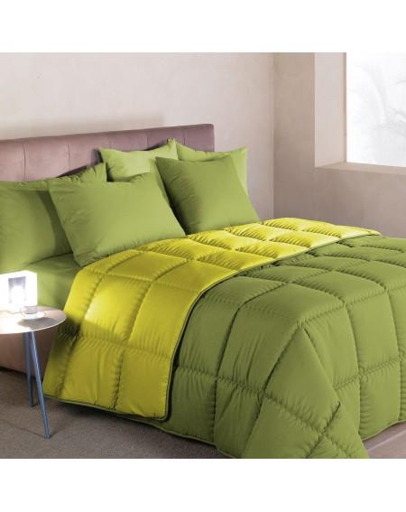 Winter Quilt Comforter Modern Double face Green Caleffi 170x260cm