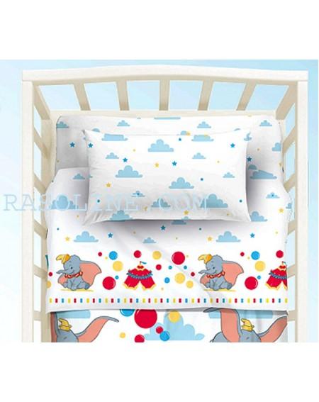 Baby-Bettwäsche Garnitur Spannbettlaken Spannbetttuch DUMBO