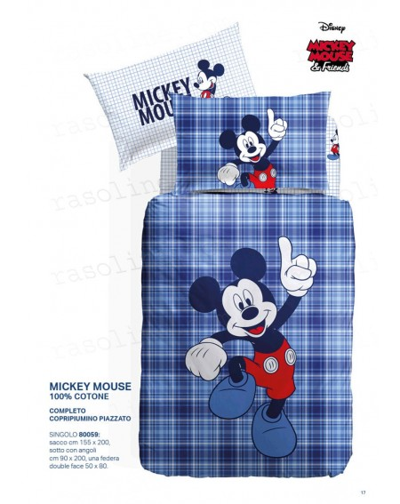 Duvet Set single bed Mickey Mouse Disney