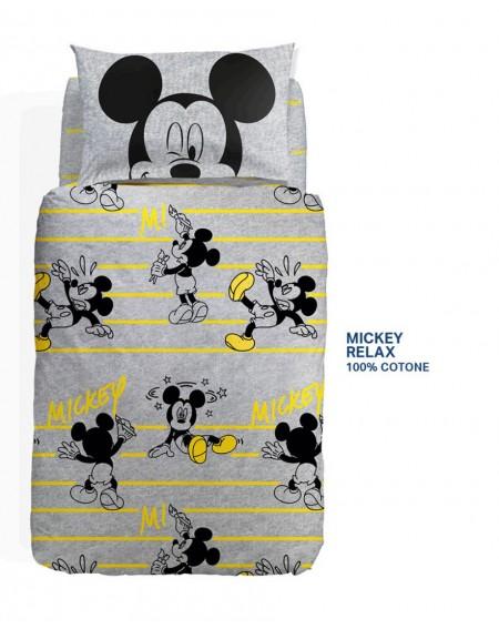 Funda nordica para cama individual Mickey Topolino Rocks