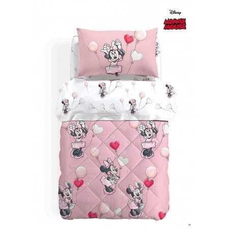 King Sheets Sheet Sets Completo Letto Bimba Una Piazza E Mezza Minnie Folk Disney Flanella Colore Rosa Home Garden