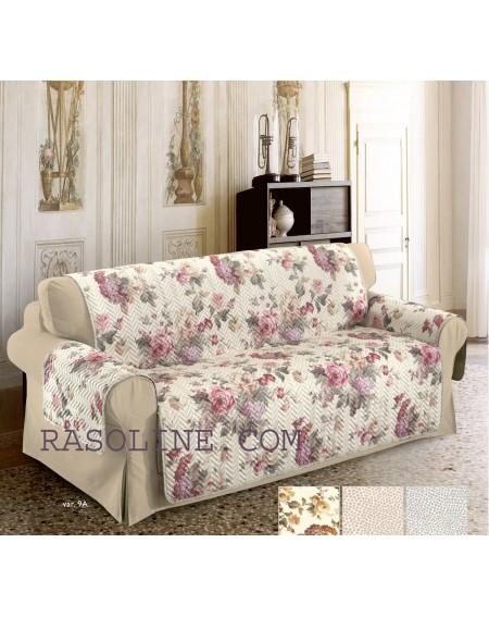 CUBRE SOFA Funda de sofá 2 plazas 120x210 cm MADE IN ITALY- ROSA ANTICO