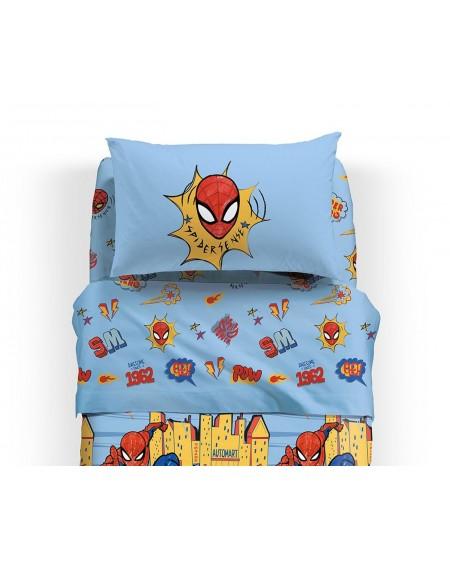 Parure de lit pour lit 1 personne Set Draps Spiderman