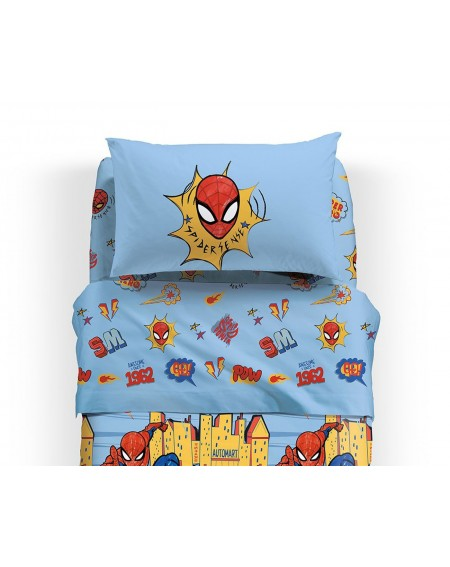 Single Bed SET Flat sheet, fitted sheet, pillowcases Spiderman