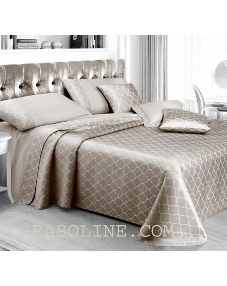 Bettüberwürfe Damascato doppelbett Copri MALAGA Farbe Beige