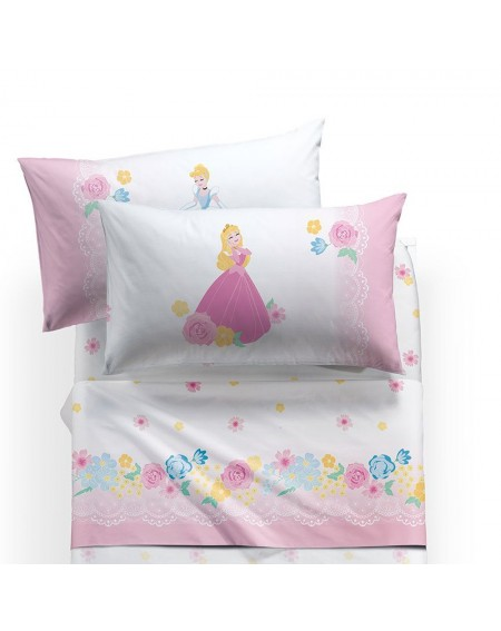 SET Flat sheet, fitted sheet, pillowcase Princess