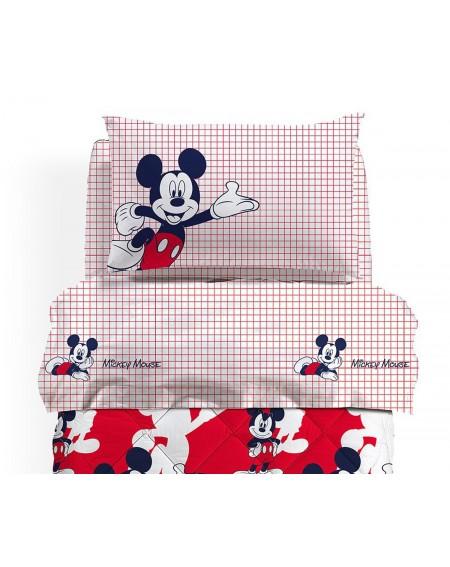 Parure de drap 3 Pièces lit simple Mickey Colors