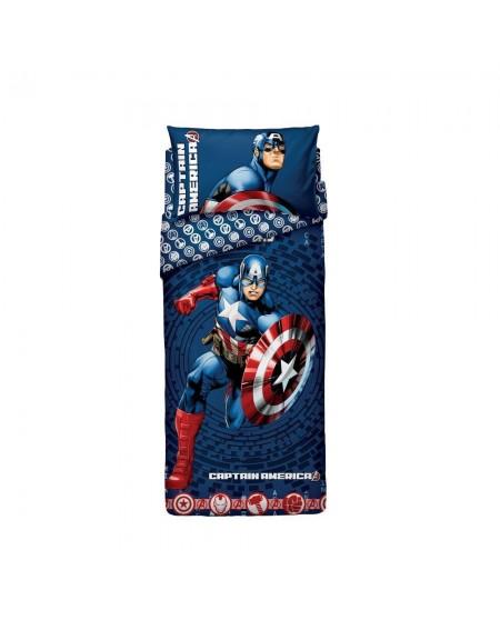 Completo Copripiumino Una Piazza Captain America The Avengers Bassetti