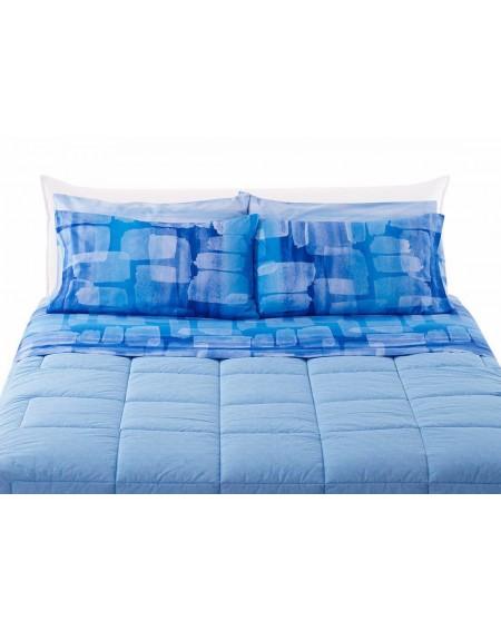 Set Bettlaken Colored Strings Blau