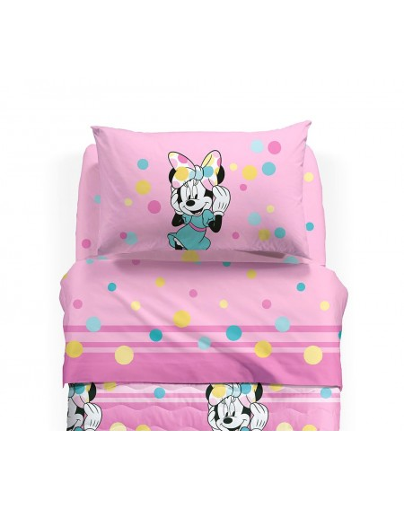 SET Flat sheet + fitted sheet MINNIE HAPPY