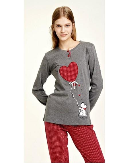 pigiama cuore