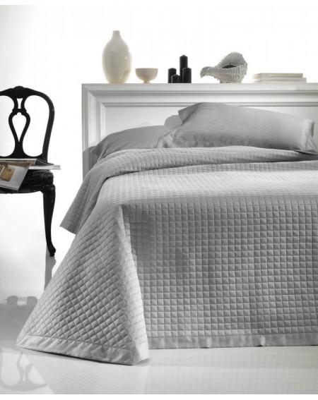 Cubrecama Elegance SATEN gris