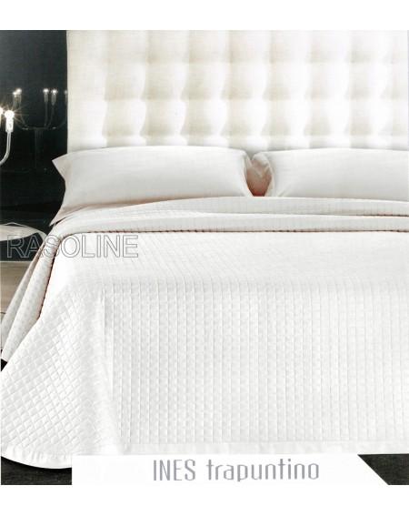"""Gesteppte Bedcover Double White Optik gesteppte Bett aus reiner Baumwolle """"Ines"""""""