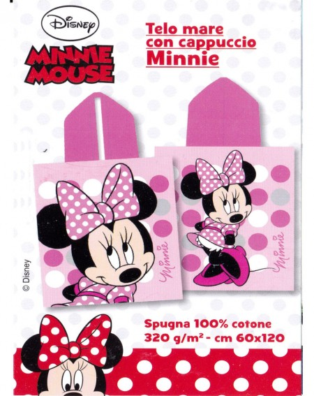 KID'S HOODED TOWEL MINNIE Pois