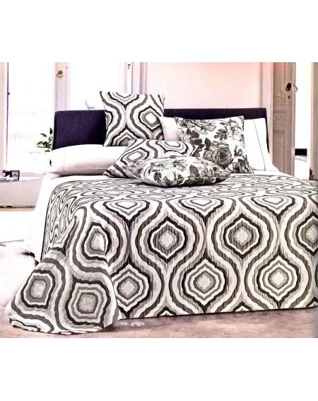 Doppelbettdecke Chenille Jacquard in grauem Relief Samt Sofabezug