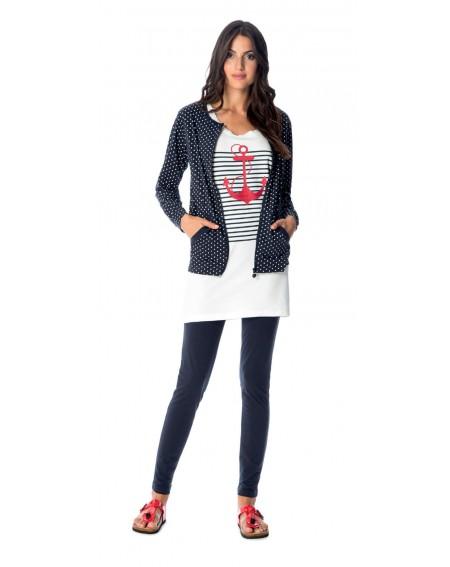 Conjunto de 3 piezas Chaqueta de punto y pijamas leggins para mujer Noidinotte