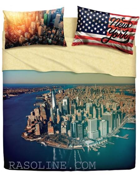 SET DE UNA HOJA CUADRADA - INDIVIDUAL NEW YORK ISLAND Bassetti