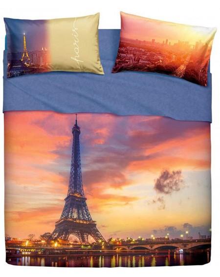 DRAP DEUX PLACES,DRAP DESSOUS,AVEC LES COINS ELASTIQUES ,DEUX TAIESE La Tour Eiffel  Paris forever