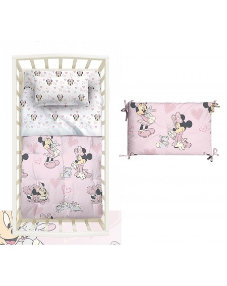 The comforter and bumper Baby Bedding Minnie DISNEY