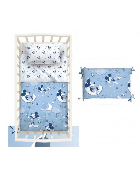 Bettdecke gepolstert Braucht keinen Bezug + Bedbumper Mickey Folk