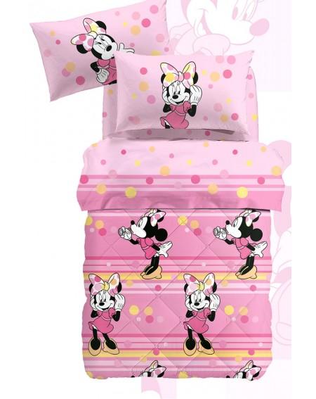 Bettdecke gepolstert Braucht keinen Bezug Minnie Happy