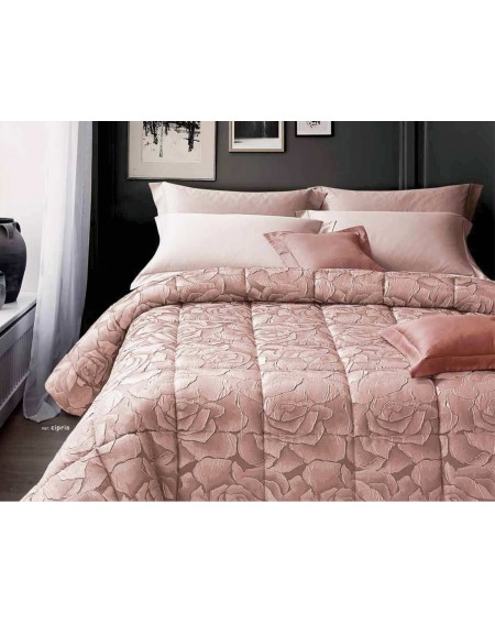 Flower Winter Double Quilt In Jacquard Satin
