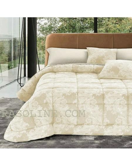 Couette d'hiver pour lit double Cora Ivory Jacquard Duvet
