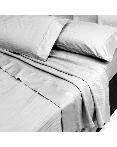 SUPE KING SIZE SHEET SET A FITTED SHEET AND TWO PILLOWCASES