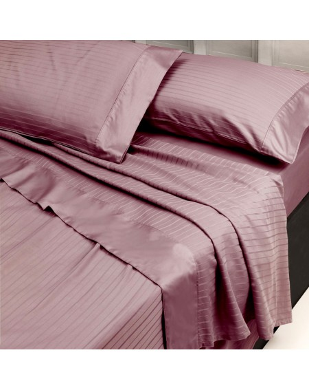SUPER KING SIZE SHEET SET Pink FITTED SHEET AND TWO PILLOWCASES