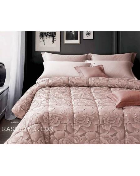 Couette d'hiver pour lit double Flower Taupe Jacquard Satin