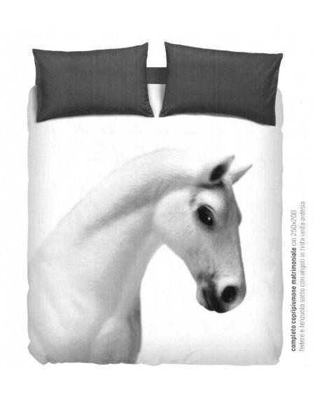 Super king size duvet set horse Bassetti Imagine by Gardone