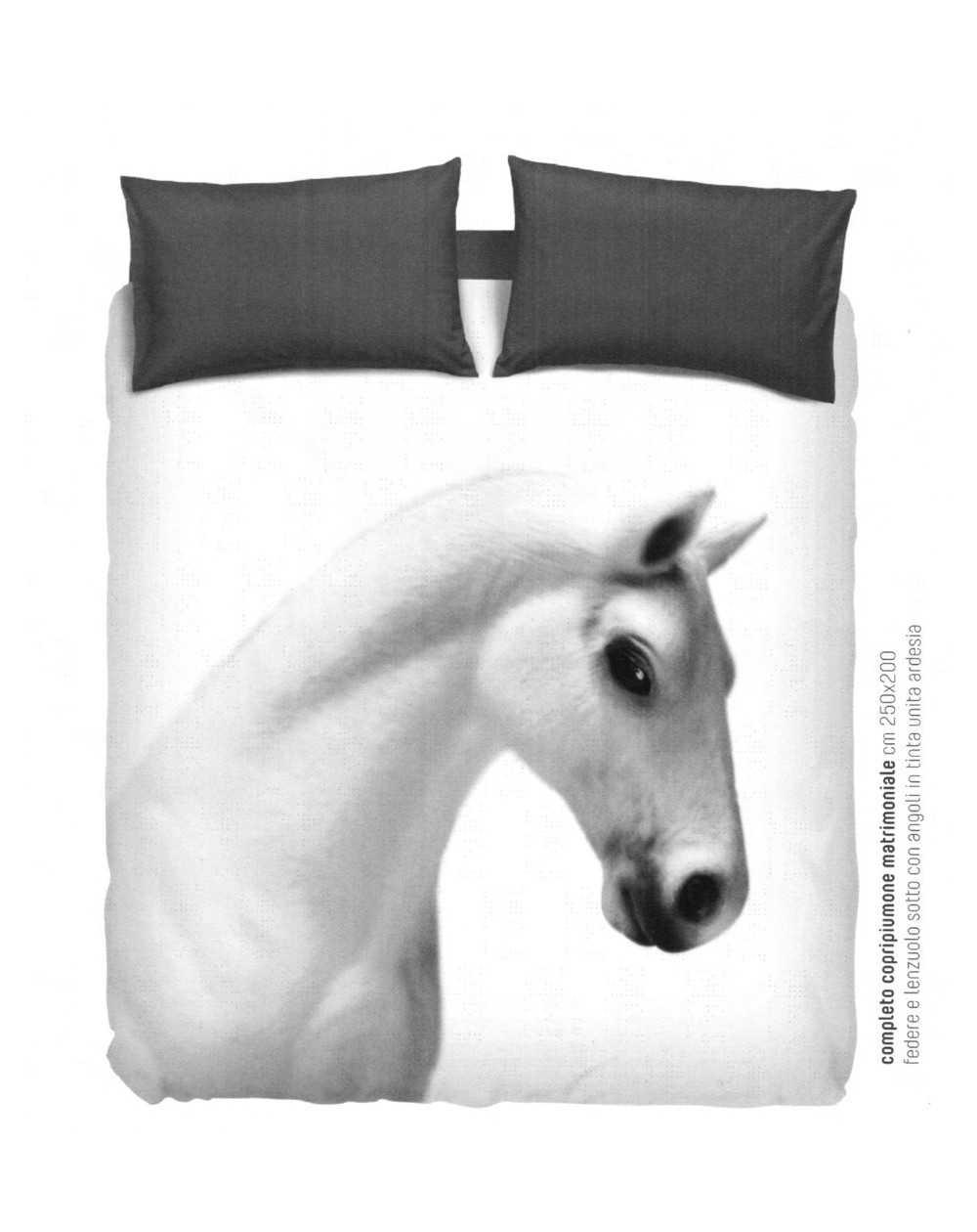 Copripiumino Singolo Con Cavalli.Completo Copripiumino Per Letto Matrimoniale Cavallo Imagine By