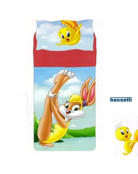 Parure de lit pour lit 1 personne Looney Tunes Bassetti