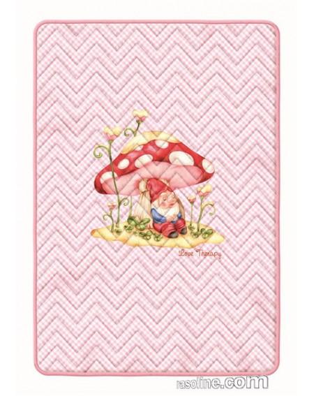 TAPPETO GIOCO antiscivolo * LOVE THERAPY * modello Magic world FUNGHETTO colore Rosa BASSETTI