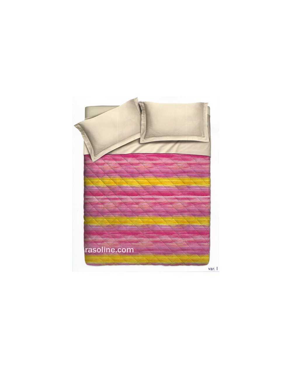 couvre lit matelass carr gf ferrari rose orange mesure una piazza. Black Bedroom Furniture Sets. Home Design Ideas