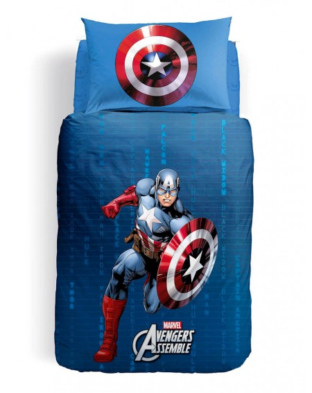 Funda nordica para cama individual Captain America