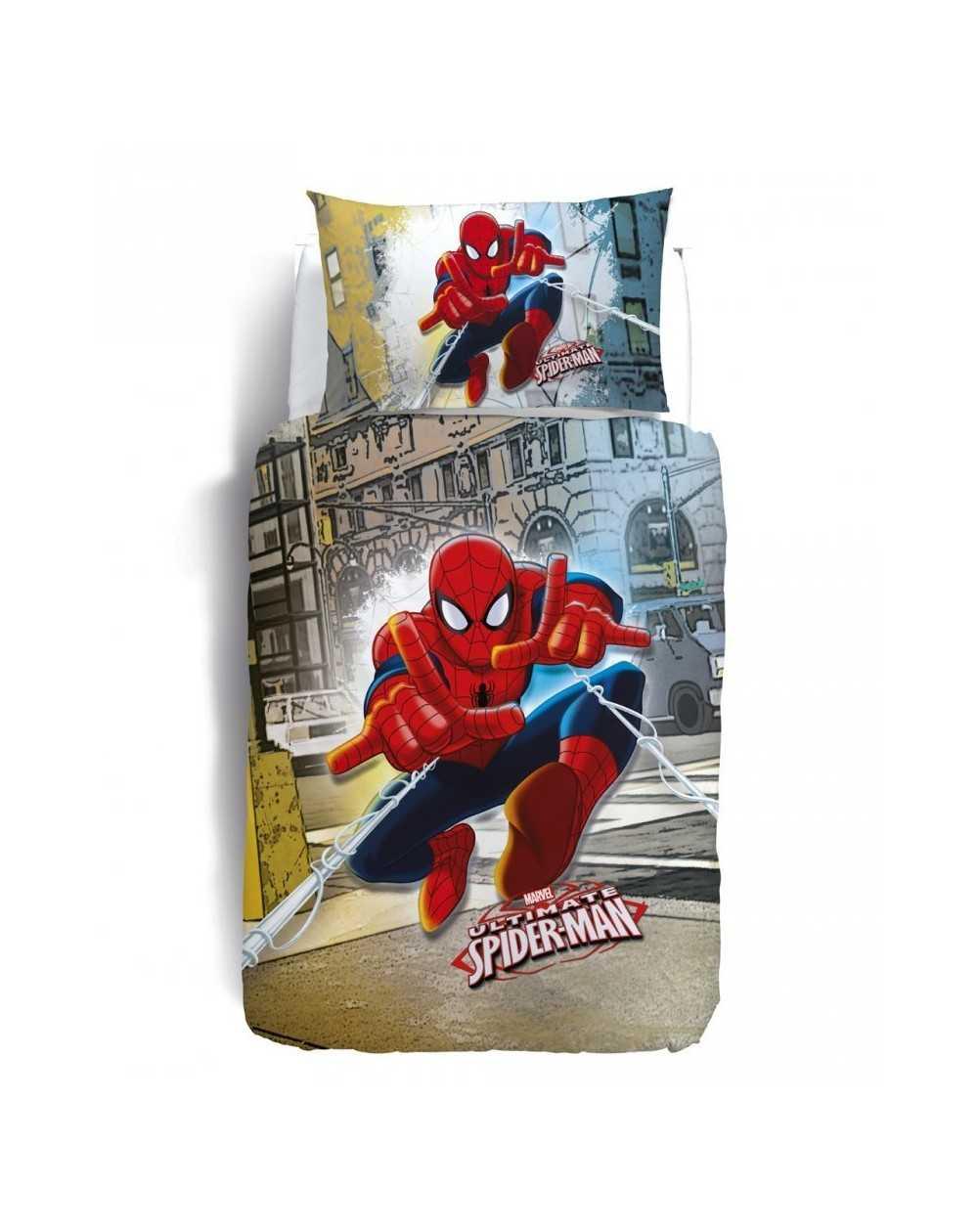 copripiumino spiderman broadway raso line l f d home. Black Bedroom Furniture Sets. Home Design Ideas