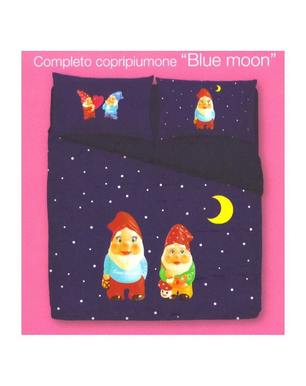 Copripiumino Love Therapy Bassetti.Duvet Set A Fitted Sheet Love Therapy Blue Moon Single Bed Bassetti
