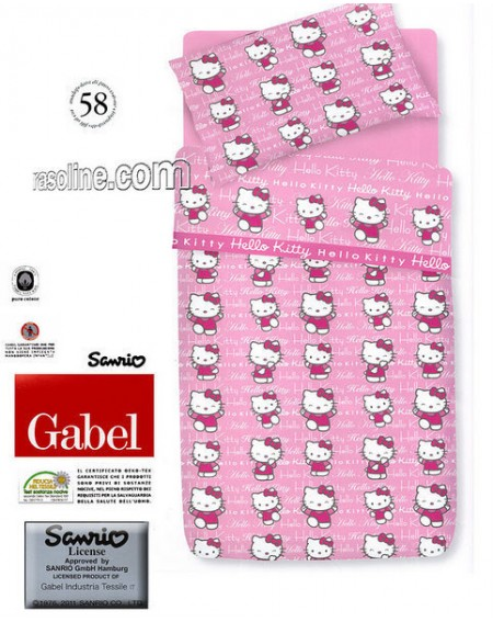 Duvet Set ,a fitted sheet, duvet cover and pillow cases Hello Kitty Step Up