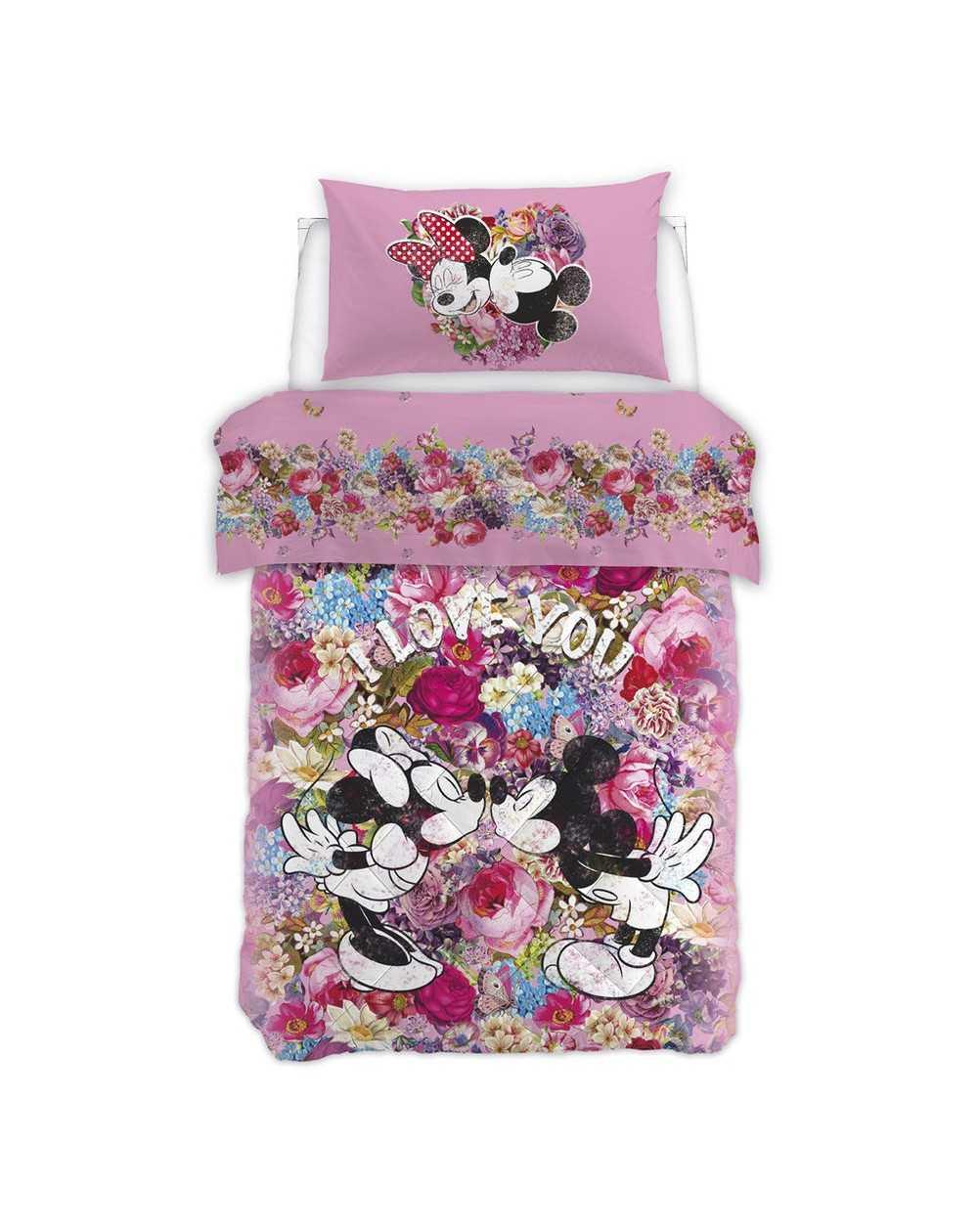 parure de lit pour lit 1 personne set draps minnie love. Black Bedroom Furniture Sets. Home Design Ideas
