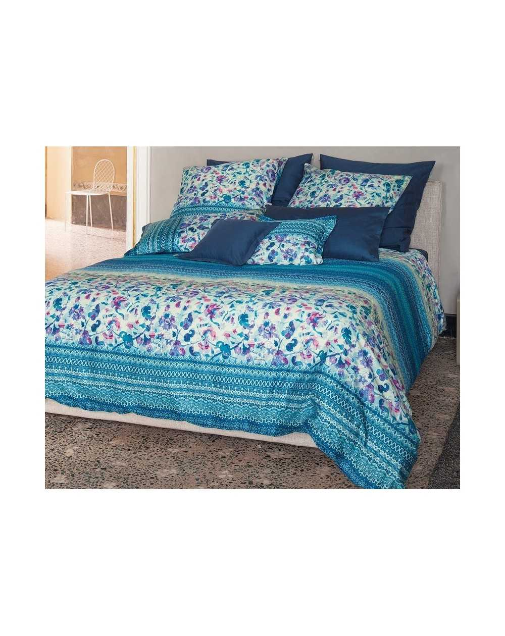 housse de couette granfoulard sangallo bleu. Black Bedroom Furniture Sets. Home Design Ideas