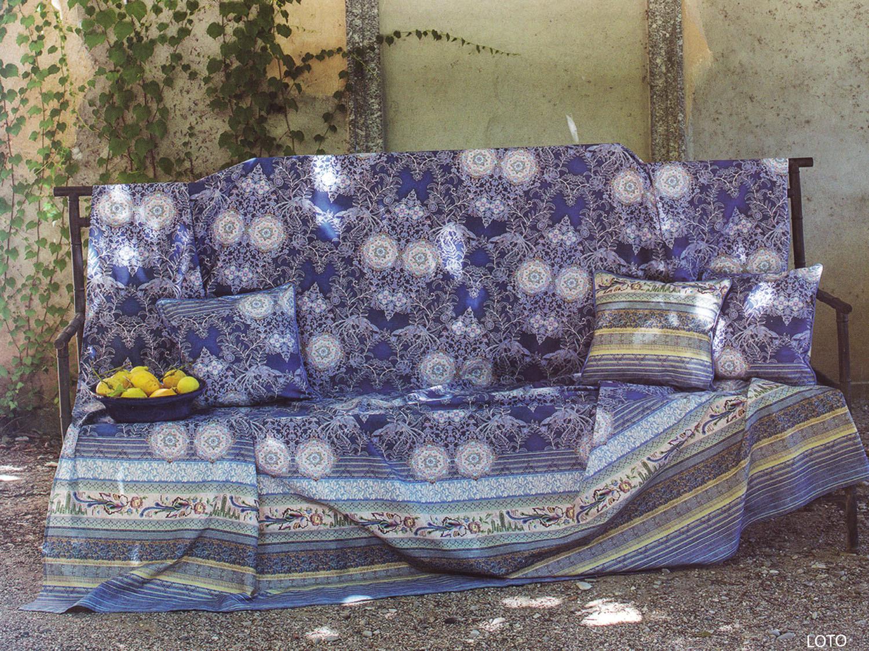 Telo arredo copriletto matrimoniale copridivano loto blu for Telo arredo bassetti